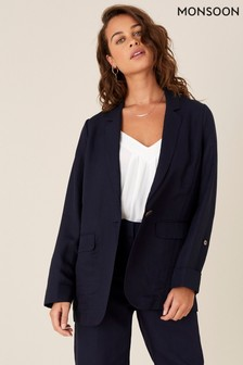 Monsoon Blue Smart Longline Blazer