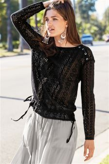 Brushed Knit Look Top