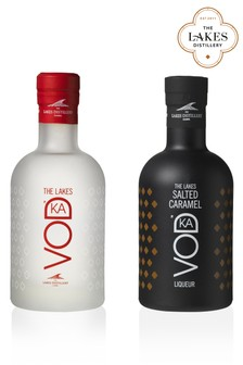20cl Lakes Vodka And Salted Caramel Vodka Gift Set by The Lakes Distillery