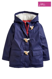 Joules Blue Duffle Showerproof Rubber Coat