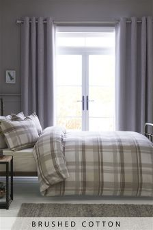 Brushed Cotton Check Bed Set