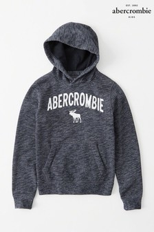 Abercrombie & Fitch Navy Logo Overhead Hoody