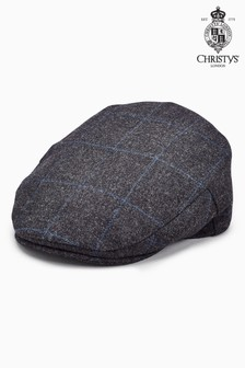 Christys  London Windowpane Flat Cap e81b866b8549