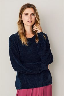 Chenille Woven Back Sweater