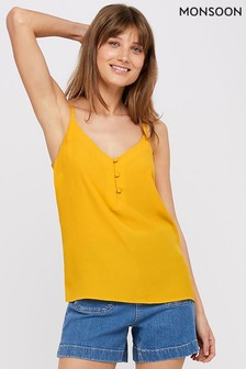 Monsoon Ladies Yellow Mila Button Cami