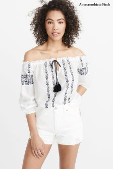 Abercrombie & Fitch White Boho Top