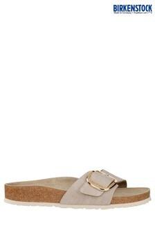 Birkenstock® Women's Rose Gold Metallic Madrid Buckle Sandal