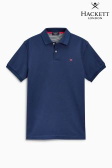Hackett Blue Tailored Logo Poloshirt