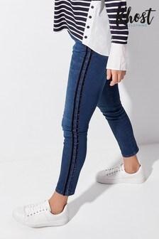 Khost Blue Velvet Side Stripe Jeans
