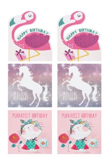 Set of 6 Girl's Birthday Cards
