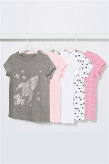 Short Sleeve T-Shirts Five Pack (3-16yrs)