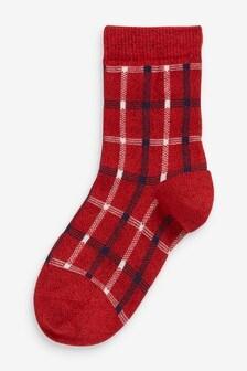 Sparkle Check Socks