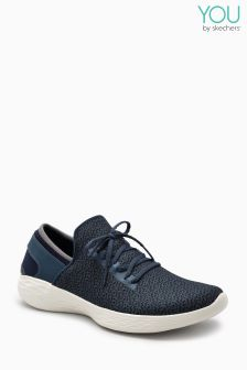 Skechers® Blue You Gore Slip On Lace Detail Trainer