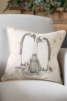Family Penguin Cushion