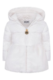 Baby Girls Ivory Down Padded Jacket