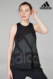 adidas Black Cool Logo Tank