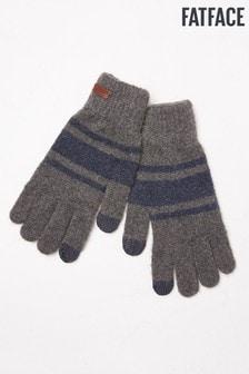 FatFace Grey Striped Gloves