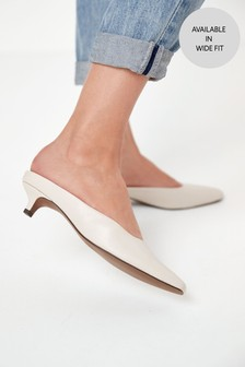 Closed Toe Kitten Mules