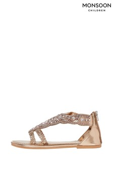 Monsoon Valencia Beaded Scallop Sandals