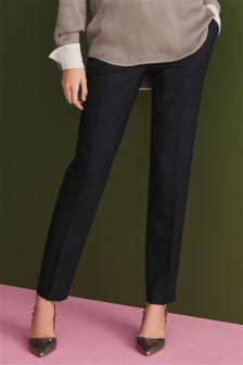 Signature Black Textured Slim Trousers
