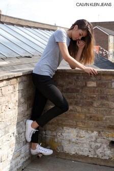 Calvin Klein Black Mid Rise Skinny Jean