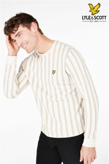Lyle & Scott Cream Deckchair Stripe Sweatshirt