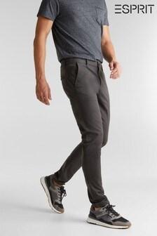 Esprit Grey Regular Woven Chino Pants
