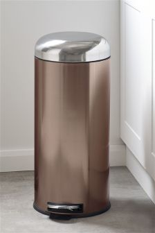 Copper Effect Dome Bin