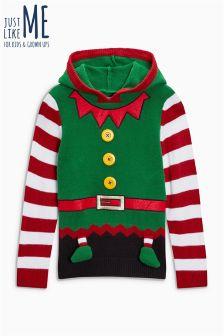 Рождественский свитер с эльфом для мальчиков (3-16 лет)