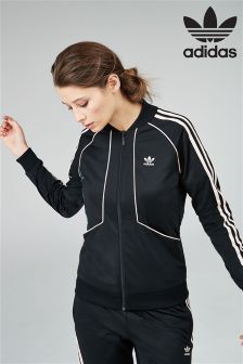 adidas Originals Black Floral Track Top
