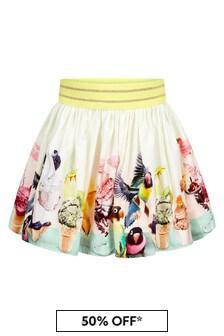 Molo Cream Cotton Skirt