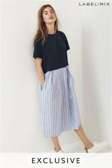 Mix/J.won T-Shirt Dress With Cotton Skirt