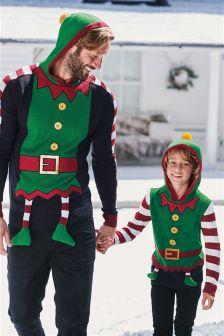 Толстовка с рождественским эльфом (Мужчины)