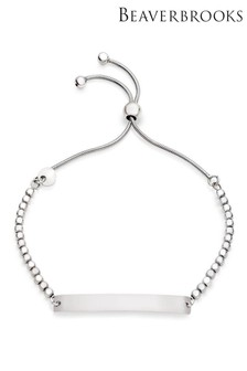 Beaverbrooks Silver Bar Bracelet