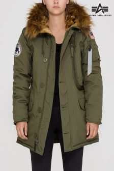 Alpha Industries Dark Green Polar Jacket