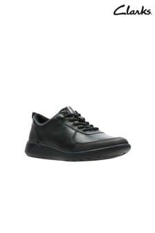 Clarks Black Scape Street Y Shoe