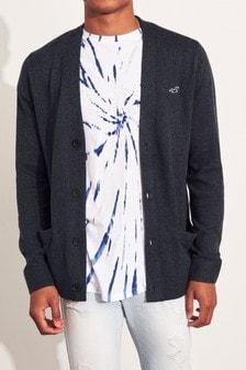 Hollister Dark Grey Knitted Cardigan