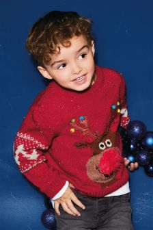 Boys Reindeer Christmas Jumper (3mths-6yrs)