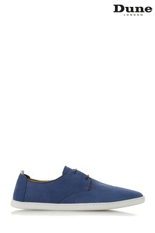 Dune Mens Blue Perforated Gibson Trainer