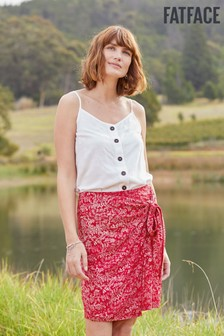 FatFace Red Mia Oriental Ditsy Mini Skirt