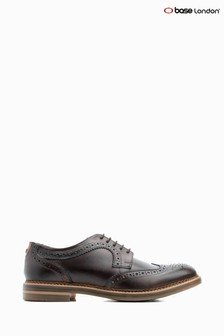 Base London Brown Kent Burnished Lace Up Brogue Shoe