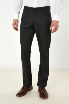 Regular Fit Jean Style Trousers With Stretch