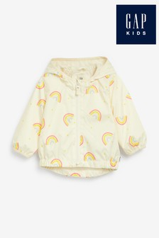 Gap Rainbow Print Windbreaker Jacket