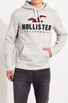 Hollister Grey Logo Hoody