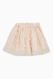 Mesh Embroidered Skirt (3mths-6yrs)