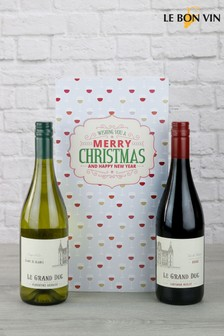 Seasons Greetings French Wine Pair Gift Set by Le Bon Vin
