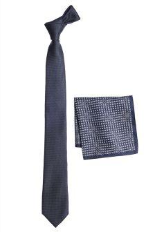 Платок для пиджака и галстук с принтом