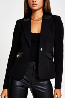 River Island Black Mix Blazer