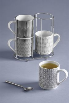 Set of 4 Berkeley Stacking Mugs