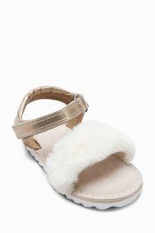 Faux Fur Sandals (Younger)